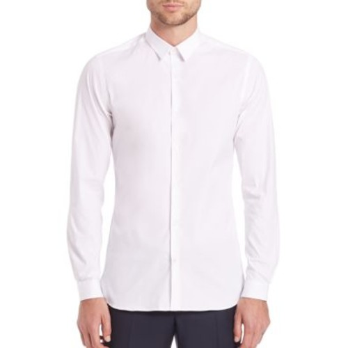 THE KOOPLES Stretch Cotton Button-Down Shirt