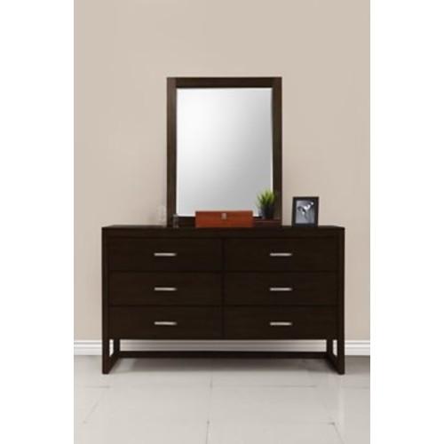 Domus Vita Design Brisbane Rectangular Dresser Mirror; Tobacco