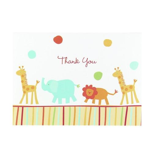 Hortense B. Hewitt Jungle Animals Thank You Cards, Set of 25