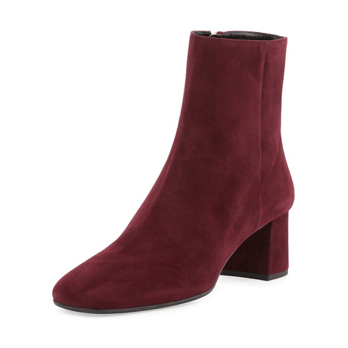 PRADA Suede Square-Toe 55Mm Ankle Boot