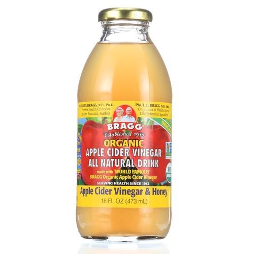 Bragg Organic ACV/Honey Apple Cider Vinegar Drink, 16 Ounce -- 12 per case.
