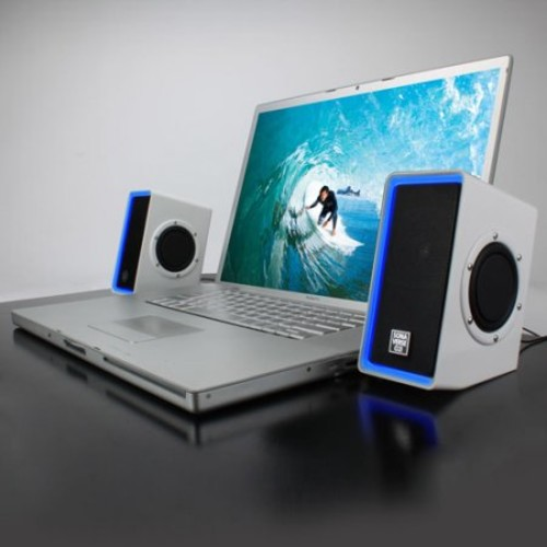 GOgroove SonaVERSE O2i Computer Speaker System with Universal USB Power, Passive Subwoofers and Built-in Volume Control for Laptop and Desktop Computers