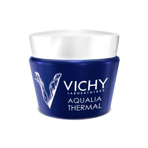 Vichy Aqualia Thermal Night Spa Replenishing Anti-Fatigue Night Cream and Face Mask with Hyaluronic Acid [2.54 fl. oz]