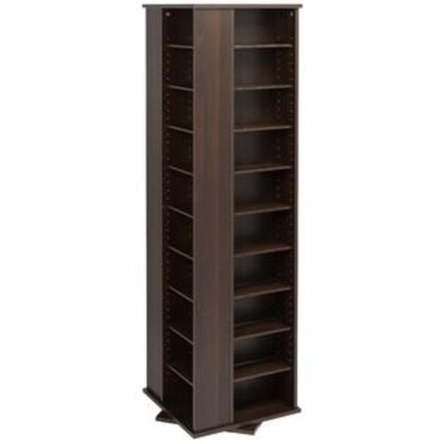 Prepac Everett Espresso 4-sided Spinner Media Storage Cabinet