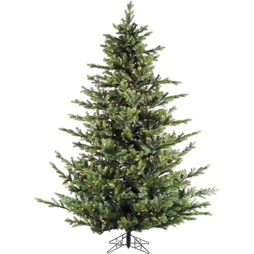 Fraser Hill Farm 12.0 ft. Pre-lit LED Foxtail Pine Artificial Christmas Tree with 2100 Multi-Color String Lights