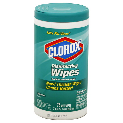 Clorox Disinfecting Wipes, Fresh Scent, 75 wipes
