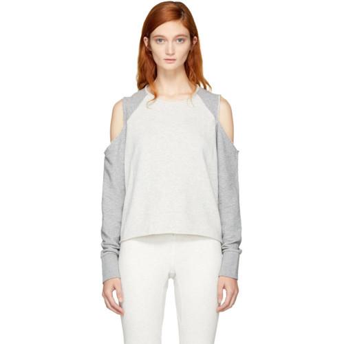 RAG & BONE Grey Standard Issue Slash Sweatshirt