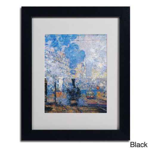 Claude Monet 'Saint Lazare Station' Framed Matted Art