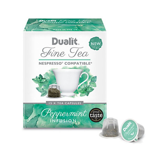 Dualit And Nespresso* Compatible Fine Tea NX Capsules, Peppermint, 2.2 Grams, Pack Of 75