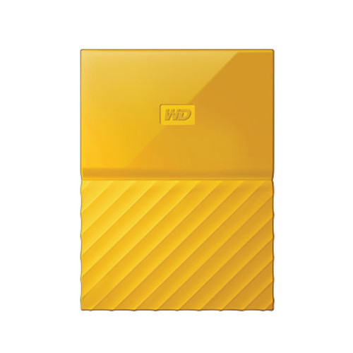 WD My Passport 4TB Portable External Hard Drive, Yellow