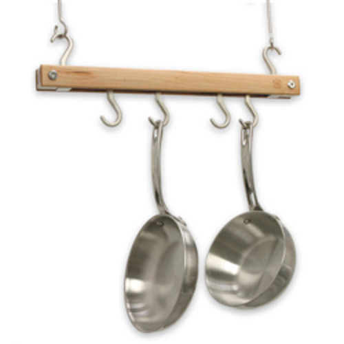 J.K. Adams 36-Inch Oval Hanging Pot Rack, Grey