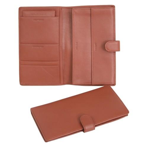 Royce Leather International Passport & Travel Document Case [Black, One Size]