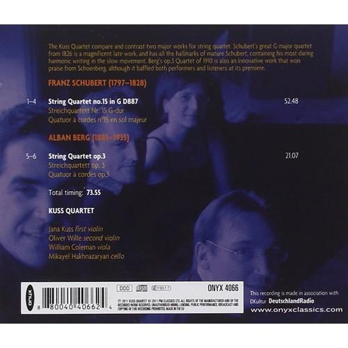 Schubert: String Quartet D877; Berg: String Quartet Op.3