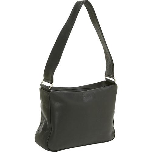 Le Donne Leather Top Zip Shoulder Bag