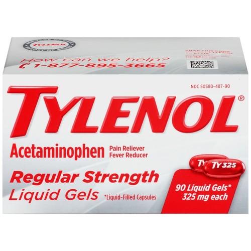 Tylenol Regular Strength Liquid Gels, 90 Count