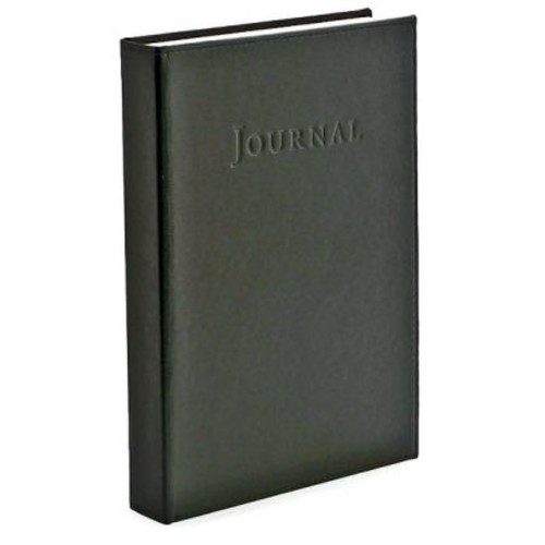 Thick Black Bonded Italian Leather Journal (9'x7