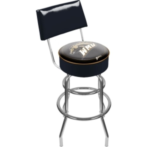 Trademark Games Western Michigan Broncos Padded Swivel Bar Stool with Back