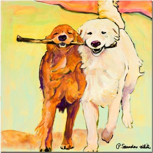 Stick With Me by Pat Saunders-White, 14x14-Inch Canvas Wall Art [14x14-Inch]