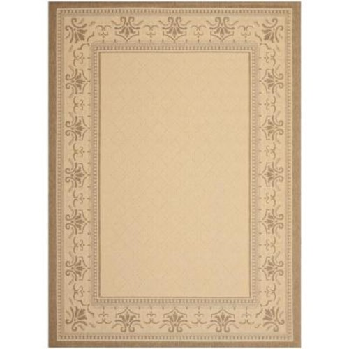 Safavieh Courtyard Natural/Brown 8 ft. x 11 ft. Indoor/Outdoor Area Rug