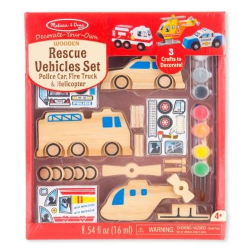 Melissa & Doug Rescue Vehicles Set, 10