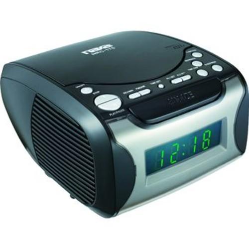 Naxa 97076734M Digital Alarm Clock with Digital Tuning AM/FM Radio & CD Player