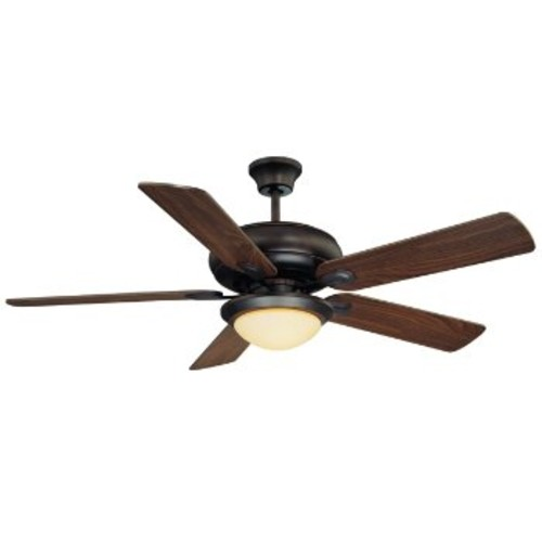 Sierra Madres Ceiling Fan [Fan Body and Blade Finish : English Bronze with Teak-Walnut and Cream Frosted]