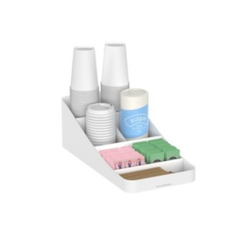 Mind Reader 'Trove' 7 Compartment Coffee Condiment Organizer, White