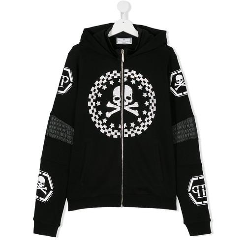 TEEN skull print hoodie