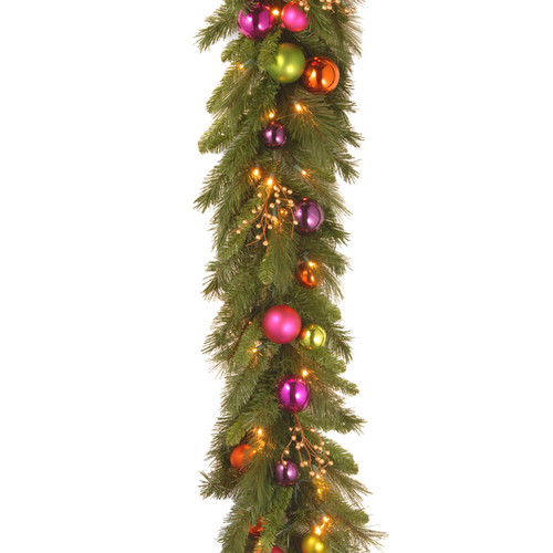 6 ft. Kaleidoscope Garland with Battery Operated Warm White LED Lights