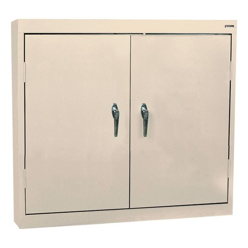 Sandusky Lee Welded Steel Wall Cabinet  Solid Doors, 36in.W x 12in.D x 30in.H, Putty, Model# WA22361230-07
