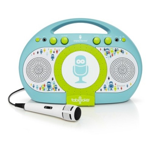 Singing Machine Tabeoke Portable Bluetooth Karaoke System - Blue/Green