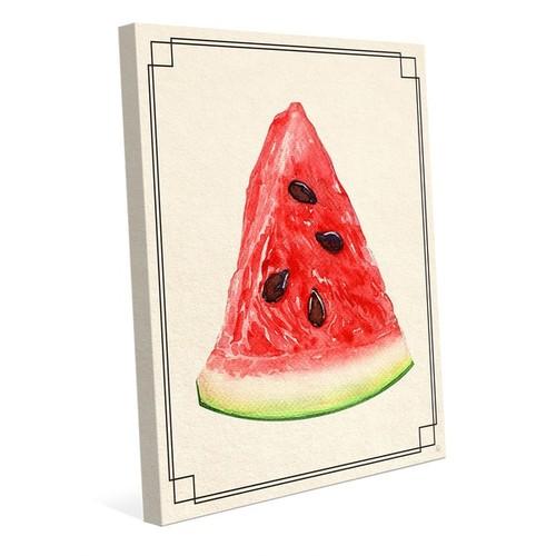 Watermelon Slice Wall Art Print on Canvas