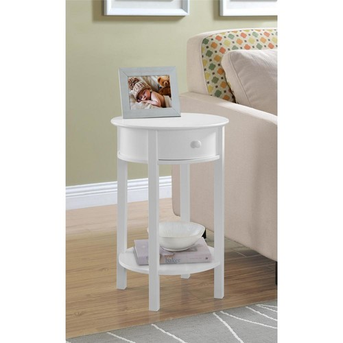Altra Furniture Tipton White End Table
