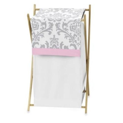Sweet Jojo Designs Elizabeth Laundry Hamper in Pink/Grey