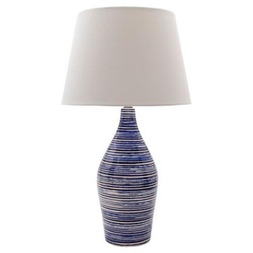 Volante Table Lamp Blue & White - Surya