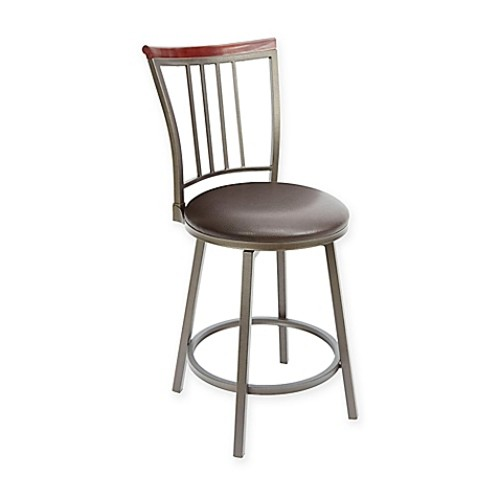 Silverwood Slat Back 24-Inch Bar Stool in Espresso