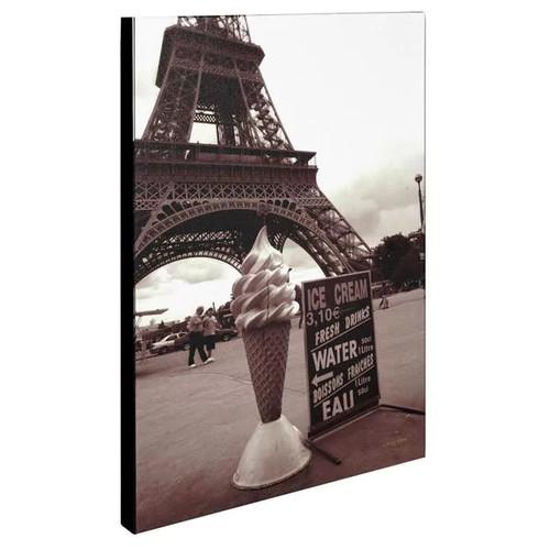 Trademark Fine Art Kathy Yates 'Eiffel Tower with Ice Cream Cone 2' Canvas Art 14x19 Inches