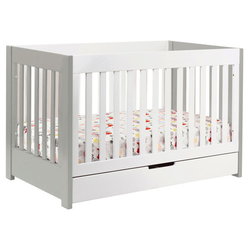 Babyletto Mercer 3-in-1 Convertible Crib with Toddler Bed Conversion Kit [Finish : White Finish]