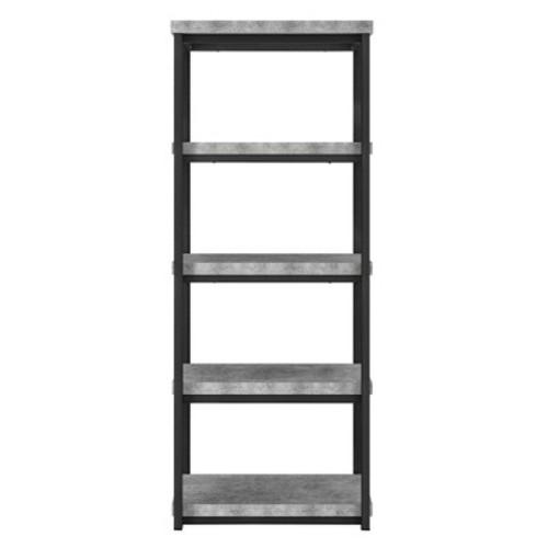 Ameriwood Concrete Gray Ashlar 4-Shelf Open Bookcase
