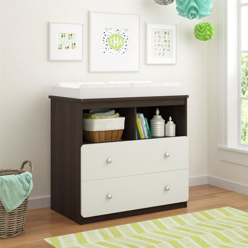 Dorel Willow Lake Coffee House Plank/White Changing Table