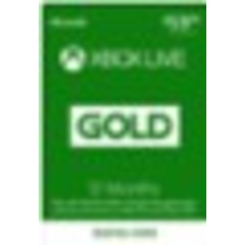 Xbox LIVE Prepaid 12 Month Gold Membership Card - Xbox LIVE [Digital Download Add-On]