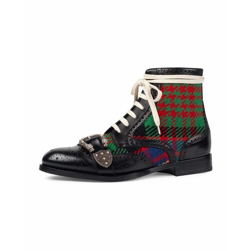 GUCCI Queercore Leather Brogue Boot