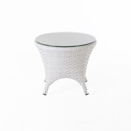 Danica Outdoor End Table W\/Clear Glass Top design by BD MOD