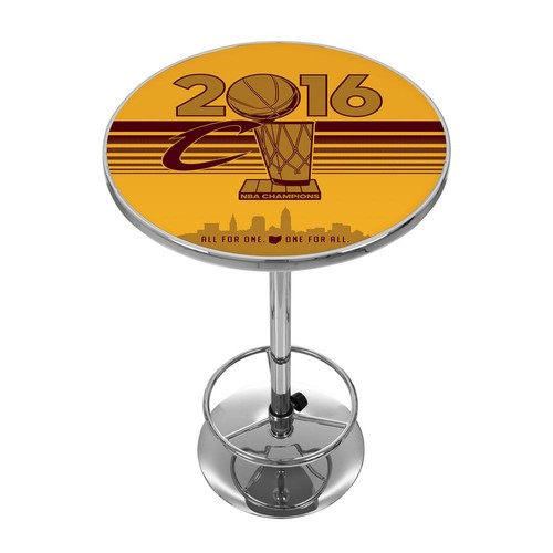 Trademark Global NBA Cleveland Cavaliers Chrome Pub/Bar Table