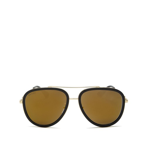 GUCCI Mirrored Aviator Sunglasses, 57Mm
