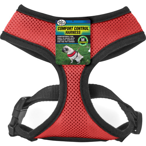 Four Paws Red Comfort Control Dog Harness [Medium]