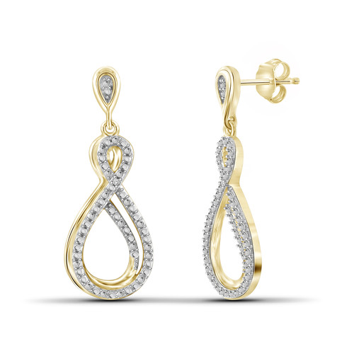 Diamond Accent Infinity Drop Earrings