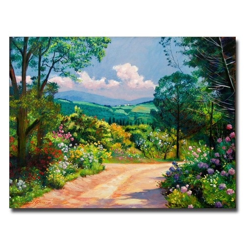 Trademark Global David Lloyd Glover 'The Tuscany Hills' Canvas Art [Overall Dimensions : 18x24]