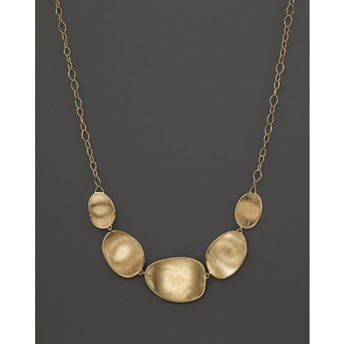 18K Yellow Gold Lunaria Half Collar Necklace, 16.5