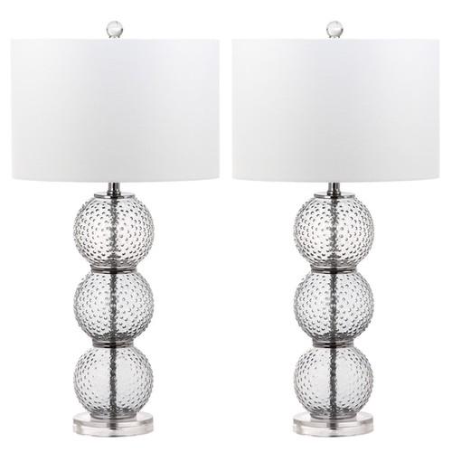 Safavieh Lighting Port Robert 28.5-Inch Glass Table Lamp (Set of 2)